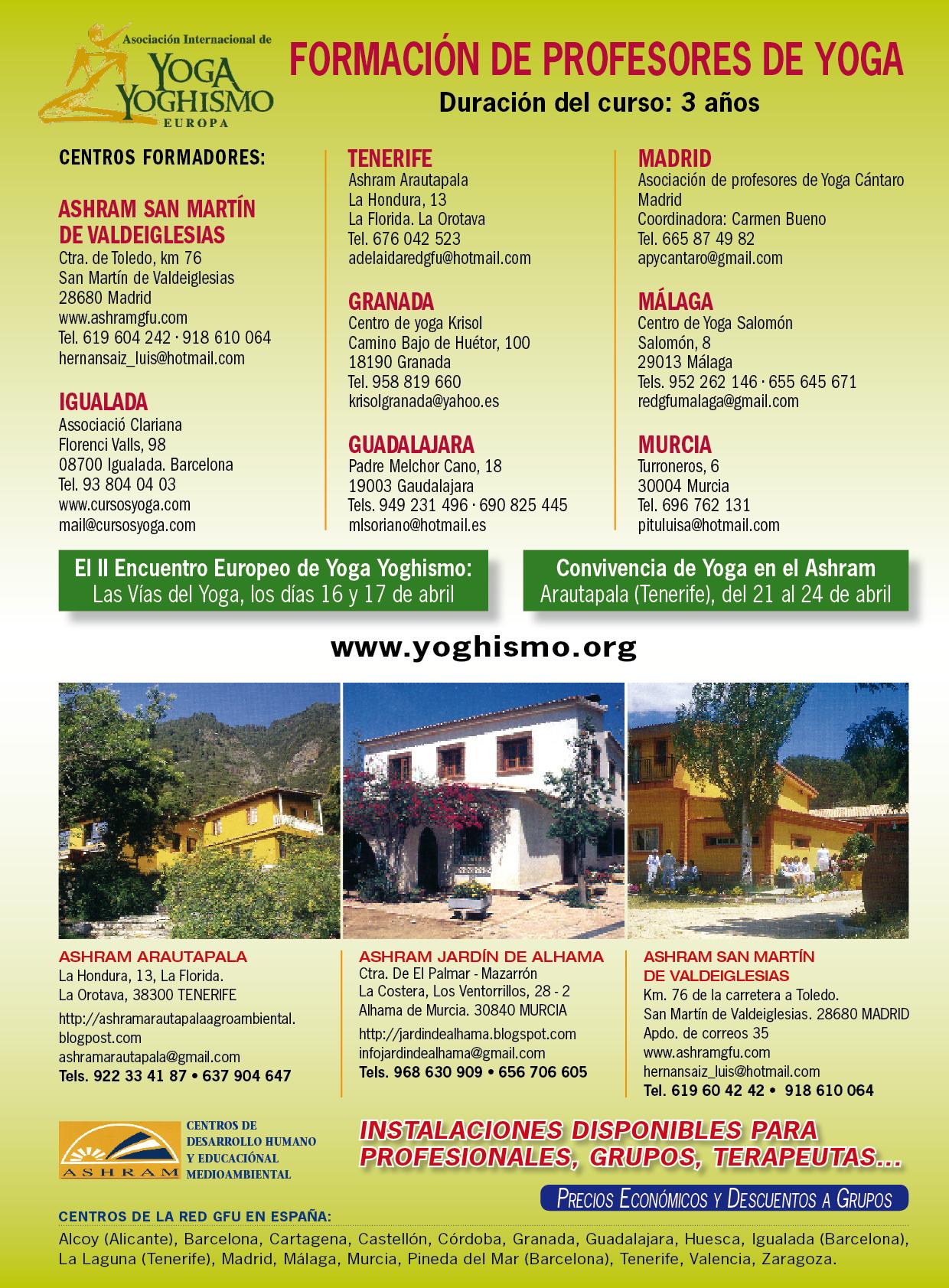 ¡Bienvenido a la página de la Asociación Internacional de Yoga Yoghismo  Europa en España! 12143e9a7561